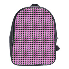 Pattern Grid Background School Bags(large)  by Nexatart