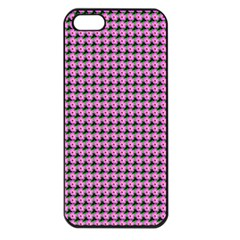 Pattern Grid Background Apple Iphone 5 Seamless Case (black)