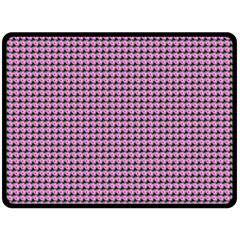 Pattern Grid Background Double Sided Fleece Blanket (large)