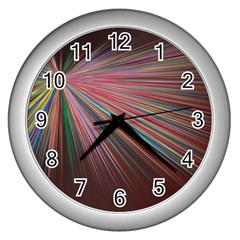 Background Vector Backgrounds Vector Wall Clocks (silver)  by Nexatart