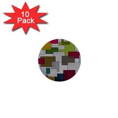 Decor Painting Design Texture 1  Mini Buttons (10 Pack)