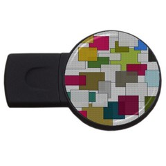 Decor Painting Design Texture Usb Flash Drive Round (4 Gb) by Nexatart