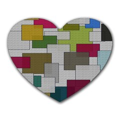 Decor Painting Design Texture Heart Mousepads by Nexatart
