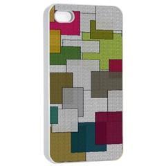 Decor Painting Design Texture Apple Iphone 4/4s Seamless Case (white)