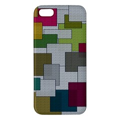 Decor Painting Design Texture Apple Iphone 5 Premium Hardshell Case by Nexatart