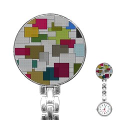 Decor Painting Design Texture Stainless Steel Nurses Watch