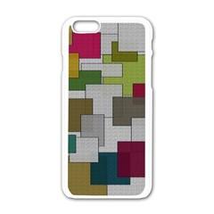 Decor Painting Design Texture Apple Iphone 6/6s White Enamel Case by Nexatart