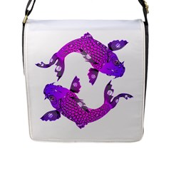 Koi Carp Fish Water Japanese Pond Flap Messenger Bag (l)  by Nexatart