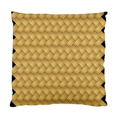 Wood Illustrator Yellow Brown Standard Cushion Case (one Side) by Nexatart