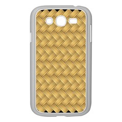 Wood Illustrator Yellow Brown Samsung Galaxy Grand Duos I9082 Case (white)