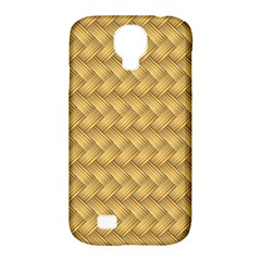Wood Illustrator Yellow Brown Samsung Galaxy S4 Classic Hardshell Case (pc+silicone) by Nexatart