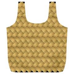 Wood Illustrator Yellow Brown Full Print Recycle Bags (l)
