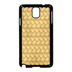 Wood Illustrator Yellow Brown Samsung Galaxy Note 3 Neo Hardshell Case (black)