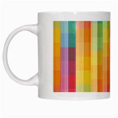 Background Colorful Abstract White Mugs by Nexatart