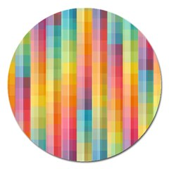 Background Colorful Abstract Magnet 5  (round) by Nexatart