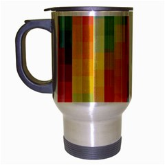 Background Colorful Abstract Travel Mug (silver Gray)