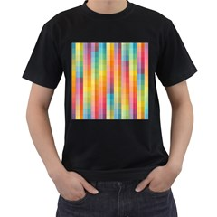 Background Colorful Abstract Men s T Shirt (black)
