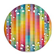 Background Colorful Abstract Ornament (Round Filigree)