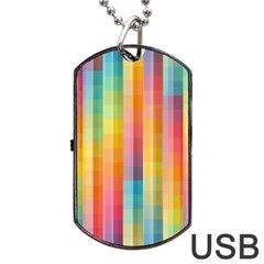 Background Colorful Abstract Dog Tag Usb Flash (two Sides)