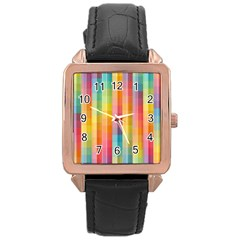 Background Colorful Abstract Rose Gold Leather Watch  by Nexatart