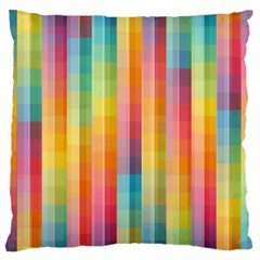 Background Colorful Abstract Large Flano Cushion Case (two Sides) by Nexatart