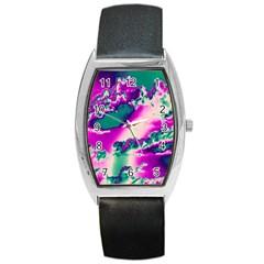 Sky Pattern Barrel Style Metal Watch by Valentinaart