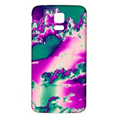 Sky Pattern Samsung Galaxy S5 Back Case (white) by Valentinaart