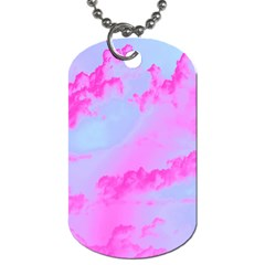 Sky Pattern Dog Tag (two Sides) by Valentinaart