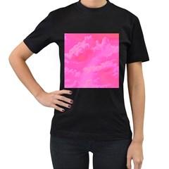 Sky pattern Women s T-Shirt (Black) (Two Sided)