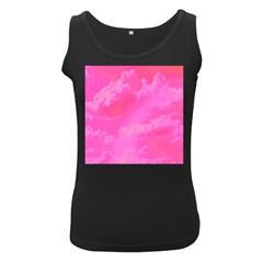 Sky pattern Women s Black Tank Top