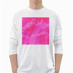 Sky pattern White Long Sleeve T-Shirts