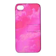 Sky Pattern Apple Iphone 4/4s Hardshell Case With Stand by Valentinaart