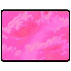 Sky pattern Double Sided Fleece Blanket (Large)