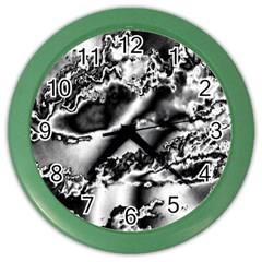 Sky Pattern Color Wall Clocks by Valentinaart