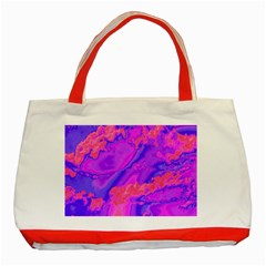 Sky Pattern Classic Tote Bag (red) by Valentinaart