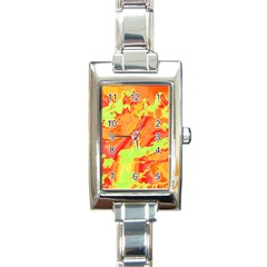 Sky Pattern Rectangle Italian Charm Watch by Valentinaart