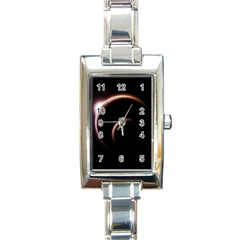 Planet Space Abstract Rectangle Italian Charm Watch by Nexatart