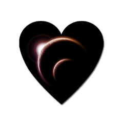 Planet Space Abstract Heart Magnet by Nexatart