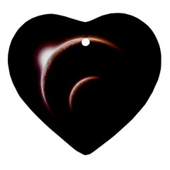Planet Space Abstract Heart Ornament (two Sides)