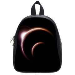 Planet Space Abstract School Bags (small)  by Nexatart
