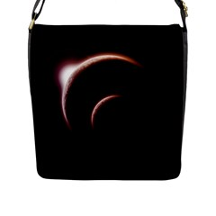 Planet Space Abstract Flap Messenger Bag (l)