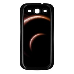 Planet Space Abstract Samsung Galaxy S3 Back Case (black) by Nexatart