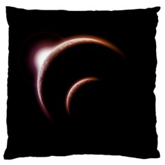 Planet Space Abstract Large Flano Cushion Case (one Side)