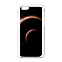Planet Space Abstract Apple Iphone 6/6s White Enamel Case