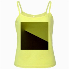Course Gradient Color Pattern Yellow Spaghetti Tank by Nexatart