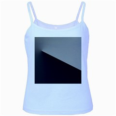 Course Gradient Color Pattern Baby Blue Spaghetti Tank