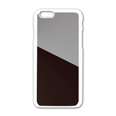 Course Gradient Color Pattern Apple Iphone 6/6s White Enamel Case by Nexatart