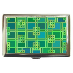 Green Abstract Geometric Cigarette Money Cases by Nexatart