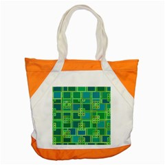 Green Abstract Geometric Accent Tote Bag
