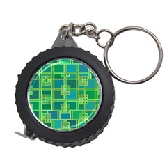 Green Abstract Geometric Measuring Tapes
